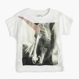 J.Crew Girls' glitter unicorn T-shirt