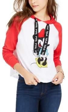 Disney By Modern Lux Juniors' Minnie Raglan-Sleeve Hoodie