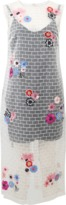 Nicole Miller Flower Embroidered Brick Dress