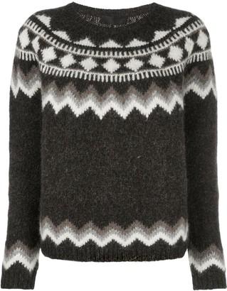 Nili Lotan geometric intarsia jumper