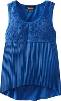 Amy Byer Girls 7-16 Pleated Knit Top