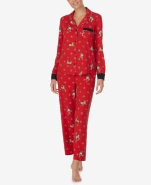 DKNY Women's Printed Soft-Knit Pajamas Set
