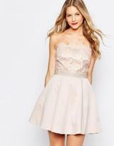 Lipsy Bandeau Mini Prom Dress