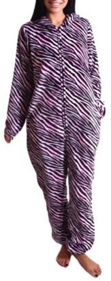 Body Candy Women's Pink Zebra Print Union Suit