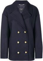 Rochas double breasted coat - women - Polyamide/Cupro/Viscose/Virgin Wool - 38
