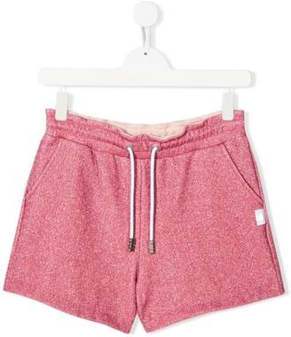 Gcds Kids TEEN woven metallic shorts