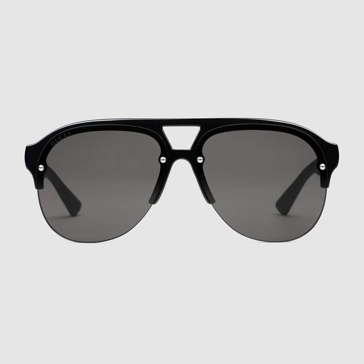 Gucci Aviator rubber sunglasses