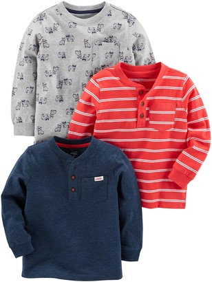 Simple Joys by Carter's 3-pack Long Sleeve Shirt T Multicolour (Gray