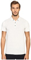 Vince Cotton-Modal Mix-Stitch Short Sleeve Polo Men's Short Sleeve Pullover