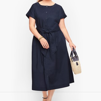 Talbots Dolman Sleeve Poplin Shirtdress