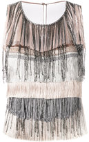Alberta Ferretti fringed top - women - Silk/Acetate/other fibers - 40