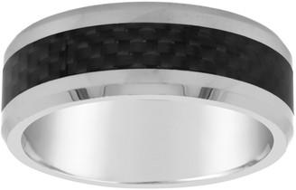 Men's 8mm Tungsten & Carbon Fiber Wedding Band