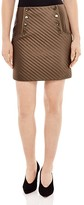 Sandro Womb Quilted Mini Skirt