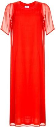 CK Calvin Klein sheer layered Georgette dress
