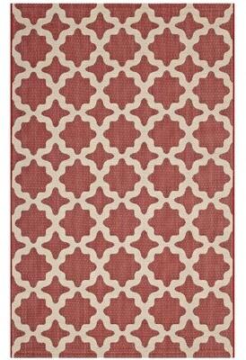 Charlton Home Hervey Bay Moroccan Trellis Red/Beige Indoor/Outdoor Area Rug Rug Size: Rectangle 8' x 10'