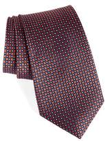 Nordstrom Men's Big & Tall Purquet Pin Dot Silk Tie