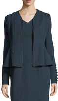 Nanette Lepore Ava Zip-Front Textured Knit Jacket