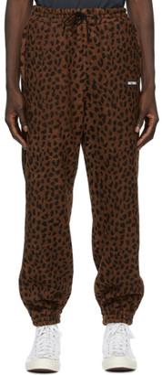 Wacko Maria Brown and Black Fleece Leopard Lounge Pants