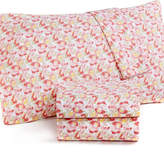 Martha Stewart Collection CLOSEOUT! Collection Wild Blossoms Standard Pillowcase Pair, 300 Thread Count Cotton Percale, Created for Macy's