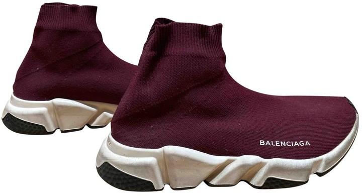 Balenciaga Speed Burgundy Cloth