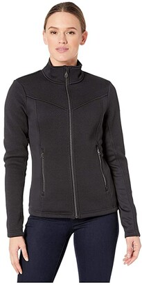 Spyder Encore Full Zip Fleece Jacket (Black) Women's Coat