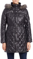 GUESS Faux Fur-Trimmed Quilted Jacket