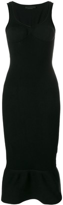 Alexander Wang Peplum Hem Bodycon Dress