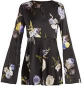 Acne Studios Bahari open-back floral-print satin top