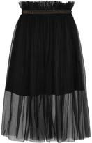 Mother of Pearl Delphia Embellished Tulle Midi Skirt - UK12