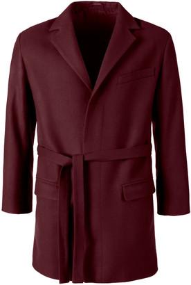 Aqvarossa Pisac Belted Loden Jacket - Bordeaux