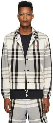 Noah NYC Black and White Madras Jacket