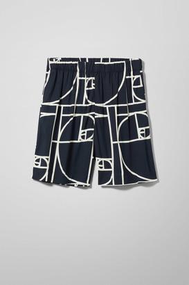 Weekday Aquatint Shorts - Black