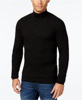 Sean John Men's Textured Mock Turtleneck Sweater