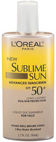 L'Oreal Sublime Sun Advanced Sunscreen SPF 50+ Liquid Silk Sunshield For Face