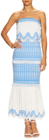 Jonathan Simkhai Cotton Paneled Scaffold Dress