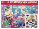 Melissa & Doug Peel and Press Sticker by Number Kit: Mermaid Reef - 60+ Stickers, Jumbo Frame