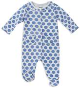 Absorba Girls' Cotton Dotted Footie - Baby