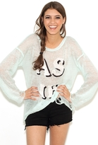 Wildfox Couture White Label As If Lennon Sweater in Mall Fountain