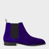 Paul Smith Men's Indigo Suede 'Gerald' Chelsea Boots