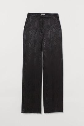 H&M Jacquard-weave suit trousers
