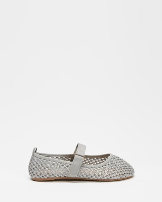 Cotton On Girl's Grey Ballet Flats - Primo Ballet Flats - Kids - Size 07 at The Iconic