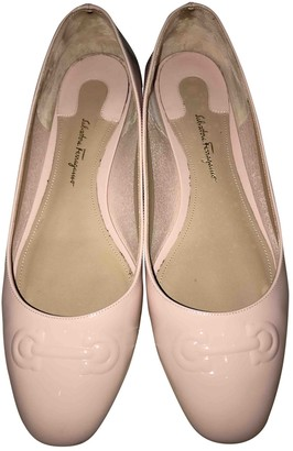 Salvatore Ferragamo Pink Patent leather Ballet flats
