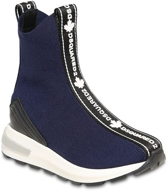 DSQUARED2 Slip-On High Sneakers W/ Logo Bands