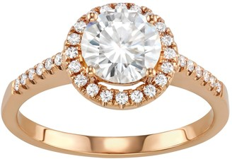 Charles & Colvard 14k Gold 1 3/4 Carat T.W. Lab-Created Moissanite Halo Engagement Ring