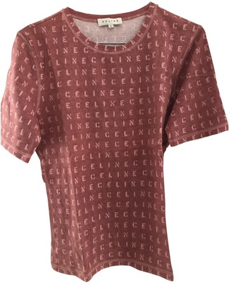 Celine Burgundy Cotton Top for Women Vintage