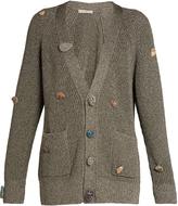 Christopher Kane Stone-embellished V-neck cardigan