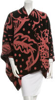 Burberry Wool & Cashmere Patterned Cape