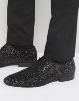 Dune Glitter Lace up Shoes in Black