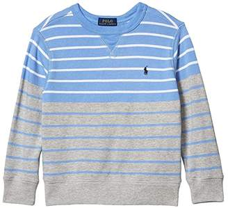Polo Ralph Lauren Striped Cotton French Terry Sweatshirt (Little Kids/Big Kids) (Fall Blue Multi) Boy's Clothing