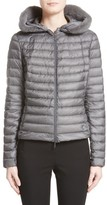 Moncler Women's Sorbus Genuine Mink Fur Trim Quilted Jacket